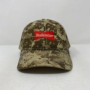 Budweiser Beer Red Digital Camo Velcroback Hat Cap